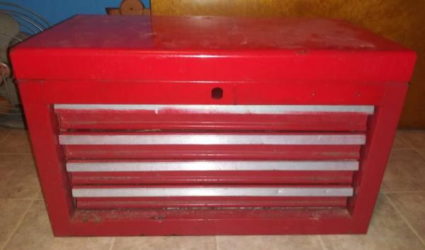 Photo Metal Tool Box Flip Top 4 Drawers 22quot - $20 (Pulaski)