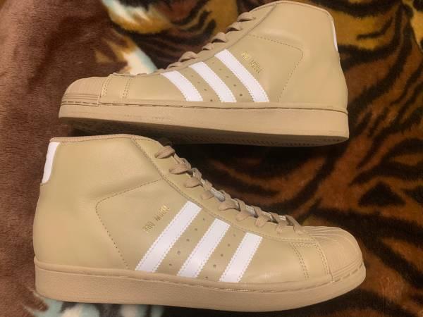 Photo New Adidas Pro Model Khaki Size 8 12 Mens - $70 (Huntsville)