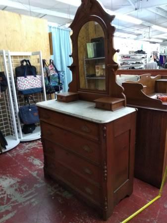 Photo Really Nice Antique Dresser wMirror  Market Place Thrift Store - $300 (707 Andrew Jackson)