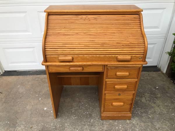 Photo Roll Top Desk - $125 (Moulton)