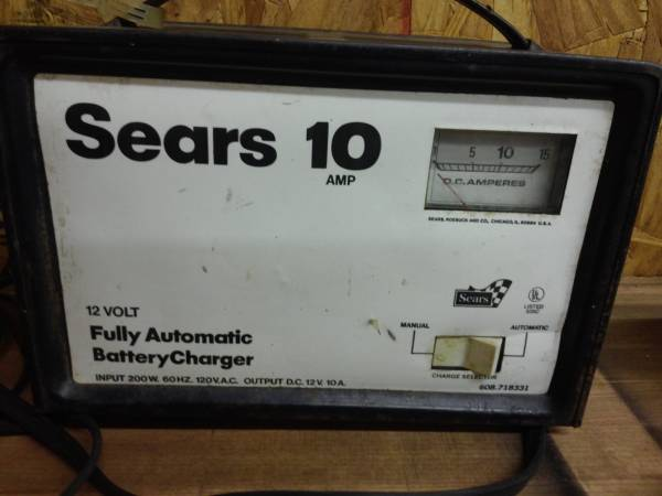 Photo Sears Automatic Battery Charger - $10 (Athens)
