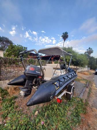 Photo 15ft 9639 Zodiac FC 470 dive boat (with center console)  trailer - $4,000 (Lemon Grove)