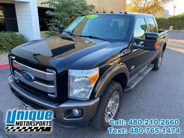 Photo 2016 FORD F-350 F350 F 350 SD DIESEL KING RANCH 4X4  UNIQUE TRUCKS - $44,995 (DELIVERED RIGHT TO YOU NO OBLIGATION)