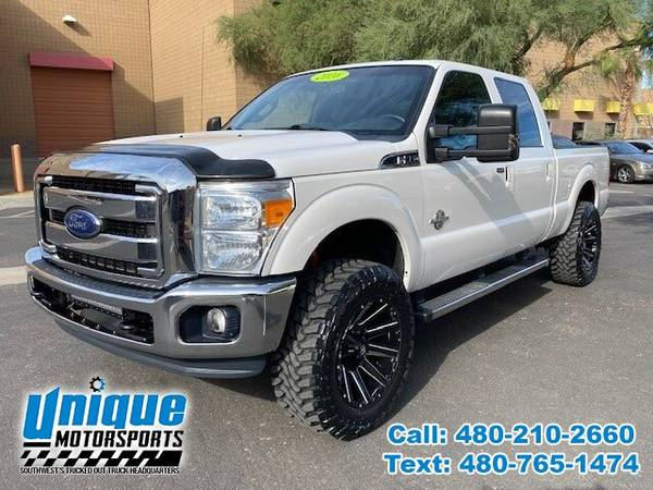 Photo 2016 FORD F-350 F350 F 350 SD DIESEL LARIAT 4X4 LIFTED  TRUCKS - $45,995 (DELIVERED RIGHT TO YOU NO OBLIGATION)