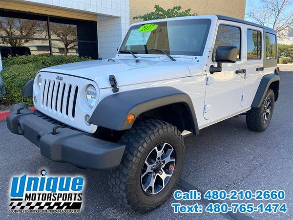 Photo 2017 JEEP WRANGLER UNLIMITED SPORT HARDTOP 4X4  UNIQUE TRUCKS - $28,995 (DELIVERED RIGHT TO YOU NO OBLIGATION)