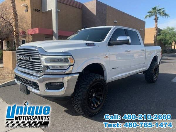 Photo 2020 DODGE RAM 2500 LARAMIE 4X4 CREW CAB LIFTED  UNIQUE TRUCKS - $66,995 (DELIVERED RIGHT TO YOU NO OBLIGATION)