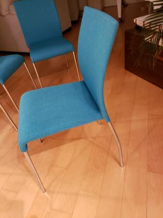 Photo 4 Modern aqua blue chairs - $40 (Venice)