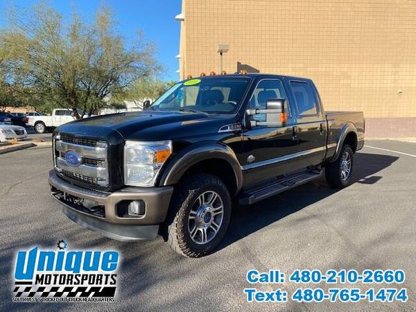 Photo BLACK BEAUTY 2016 FORD F-350 KING RANCH CREW CAB 4X4 SHORTBED 6.7 LI - $44,995 (DELIVERED RIGHT TO YOU NO OBLIGATION)
