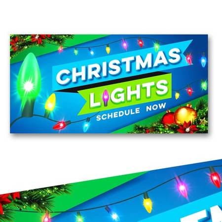 Photo Christmas lights installation - $300