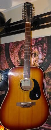 Photo Epiphone 12-string acoustic guitar - Mode Texan 12 Ft-160 - Sunburst - $400 (North Long Beach)
