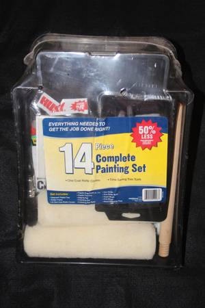 Photo NEW Complete 14 Piece Painting Set Rollers Brushes Roller Brush Paint - $5 (Rancho Bernardo or Encinitas)