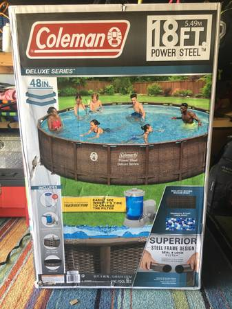Photo NEW IN BOX 18ft Coleman Above Ground Pool - $800 (San Clemente)