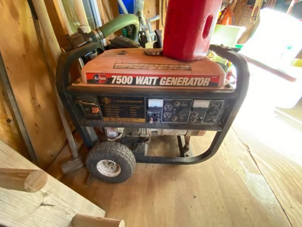 Photo Portable Generator- All-Power 7500-Watt Gas Powered W Electric Start - $400 (Ramona)
