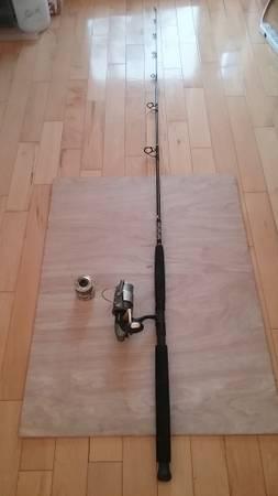 Photo Shimano Talavera Fishing Rod, Okuma California Baitfeeder Reel - $150 (Los Angeles)