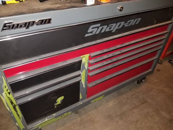 Photo Snap-on tool box, tool cart and tools - $4000 (El centro)