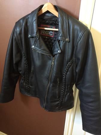 Photo Stylish Womens Black Leather Motorcycling Jacket - $75 (Ramona, CA)