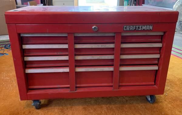 Photo Vintage CRAFTSMAN Locking Rolling Tool Chest Cabinet - $200 (West Hills)