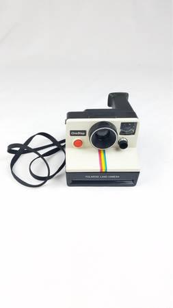Photo Vintage Polaroid One Step white Rainbow stripe instant land camera - $45 (Glendale)