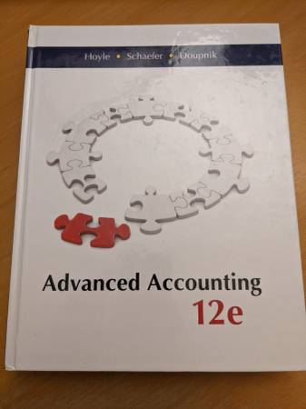 Photo Advanced Accounting 12e 12th Edition by Hoyle, Schaefer, Doupnik - $199 (Koreatown, Los Angeles, CA)