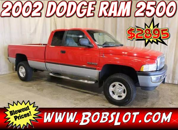 Photo 2002 Dodge Ram 2500 Pickup Truck 4x4 Diesel Extended Cab - $2,895 (indianapolis)