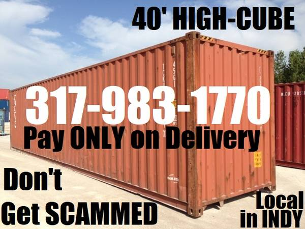Photo 4039 HI CUBE SHIPPING CONTAINERS for STORAGE CONEX CONTAINER PODS (INDIANAPOLIS CONTAINER SALES)