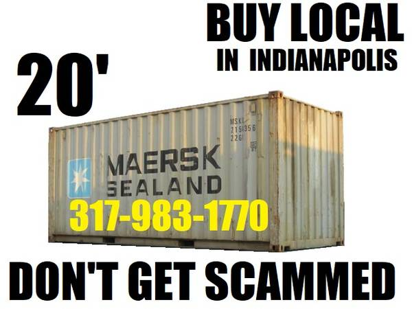 Photo CHEAP storage containers 2039 LONG conex mini storage container PODS - $1700 (NOT quotBROKERquot but local INDIANAPOLOS)