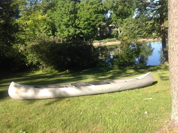 Photo Canoe, 17 foot, aluminum, Sears - $595 (Carmel)
