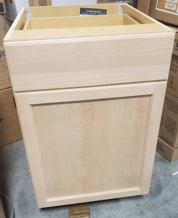 Photo Easthaven Shaker 21 in. W Base Cabinet w Drawer (Unfinished Beech) - $40 (Indianapolis)