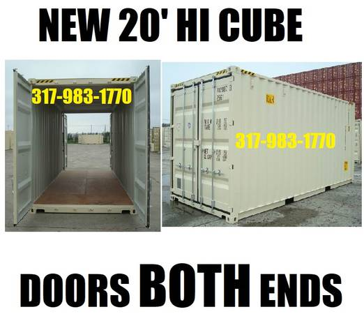 Photo Hi Cube DOUBLE DOOR storage containers NEW conex container shed PODS (INDIANAPOLIS CONTAINER SALES)