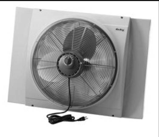 Photo New Air King 20 Inch Blades Whole House 120V 3 Speed Window Fan, Gray - $100 (Cicero)