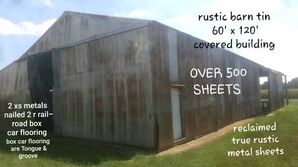 Photo Pole barn shed removal for sale an railroad box car flooring an lumber - $1 (Sandborn,IN)