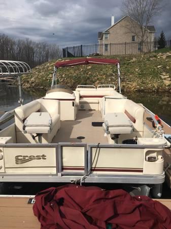 Photo Pontoon Boat for sale - $8,500 (Geist area)