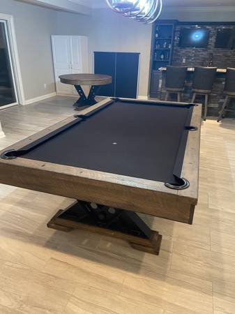 Photo Pool Table  Poker Table - $5,000 (Westfield)