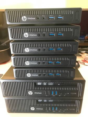 Photo hp elitedesk mini core i5 windows 10 pro 8gb ram - $150 (indianapolis)