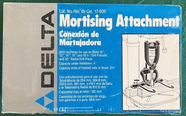 Photo 033-NIBNOS Delta 17-905 Mortising Attachment  NIB 14quot Bit - $50 (Corona)