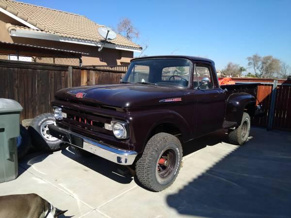 Photo 1961 Ford F100 4X4 RARE - $10,000 (Corona)