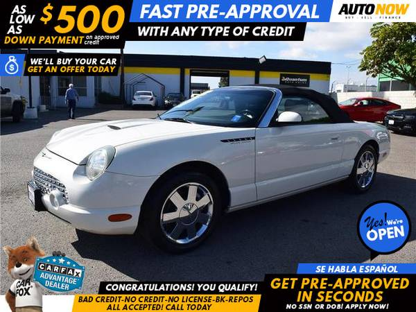 Photo 2002 Ford Thunderbird Convertible 2D (- $500 Down oac GET PRE-QUALIFIED 1ST)