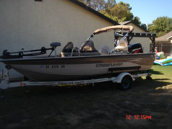Photo 2002 crestliner super hawk 1850 bass boat - $11,800 (riverside)