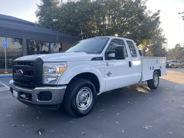 Photo 2012 FORD F250 DIESEL UTILITY SERVICE WORK TRUCK RUNS GREAT 1 OWNER - $9500 (Azusa)