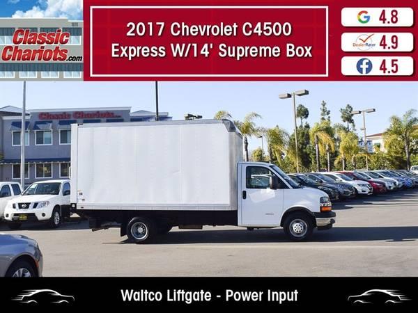 Photo 2017 Chevrolet C4500 Express W1439 Supreme Box - Waltco Liftgate (Delivery - Essential Services - Work)