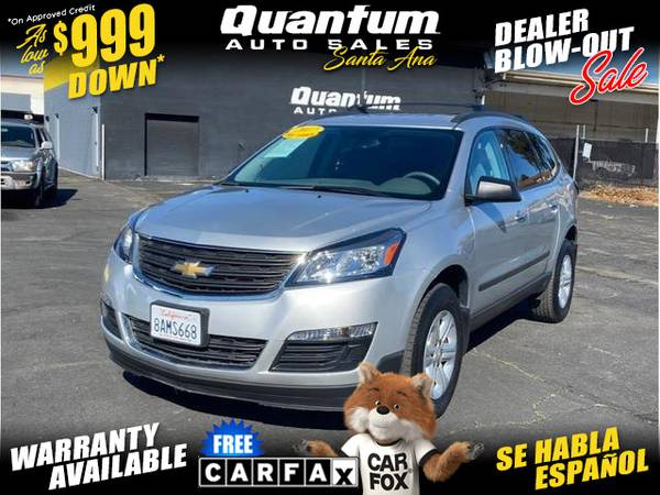 Photo 2017 Chevrolet Chevy Traverse LS Sport Utility 4D (- $999 Down oac- GET APPROVED IN MINUTES)