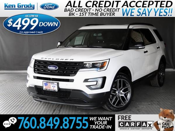 Photo 2017 Ford Explorer Sport (- $499 Down oac -CallText (760) 849-8755)