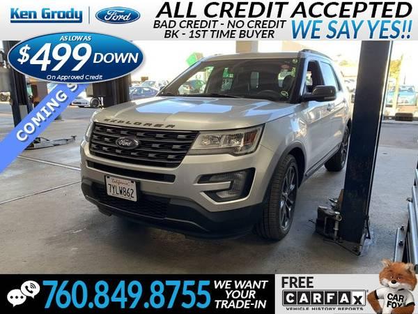 Photo 2017 Ford Explorer XLT (- $499 Down oac -CallText (760) 849-8755)