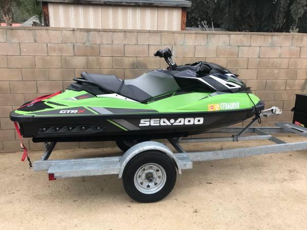 Photo 2019 SEADOO GTR-X Apple green IMMACULATE TURN KEY SKI  - $16,000 (Lake Elsinore ski and single trailer included )