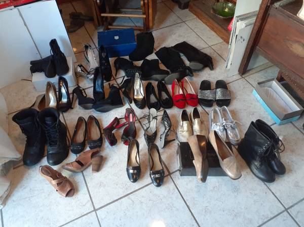 Photo 22 pairs Designer Shoes and Boots Coach, Van39s, and More - $100 (Riverside)