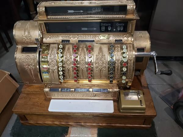 Photo Antique Cash Register,The National Cash Register Co. Dayton.Ohio.U.S.A