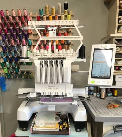 Photo Baby Lock Enterprise 10-needle Embroidery Machine wAcc.  Blanks - $10,000
