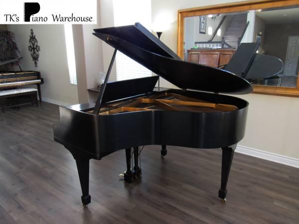 Photo Beautiful Satin Black Gabler Baby Grand Piano  Delivery Avail  - $4,000 (Murrieta)
