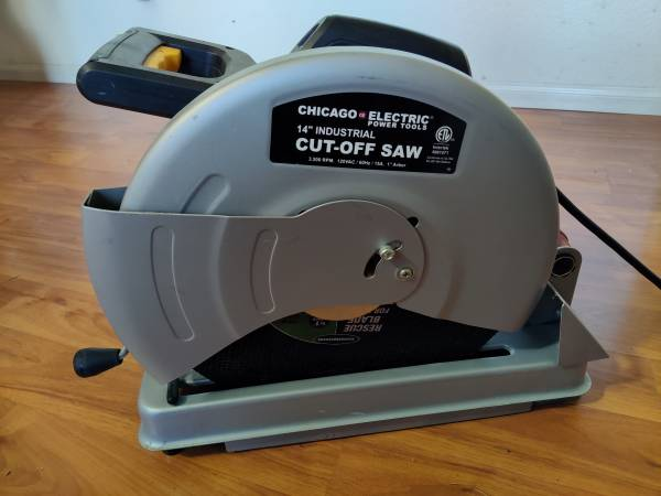 Photo Chicago Electric 14quot Abrasive Metal Cut-Off (Chop) Saw - $75 (Crestline)