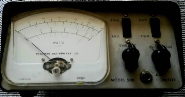 Photo Classic Palomar 1000 Watt HAM or CB Radio Meter with Audio Monitor - $125 (Apple Valley)